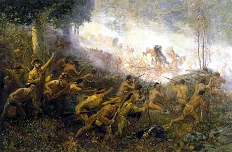 The Shooting of General Braddock . . . by Edwin Willard Deming