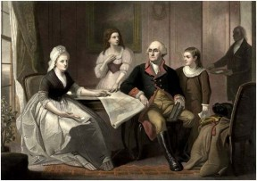 Washinton's Family Portrait Mezzotint
